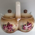 Набор банок для специй двойной 200мл ″Розы″ 5F817-2 купить оптом и в розницу