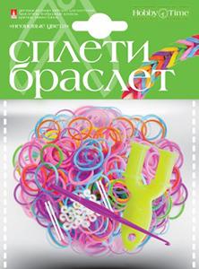 """Набор д/дет.творч.Плетение из резиночек """"Неоновые цвета"""" 600шт купить оптом и в розницу"""