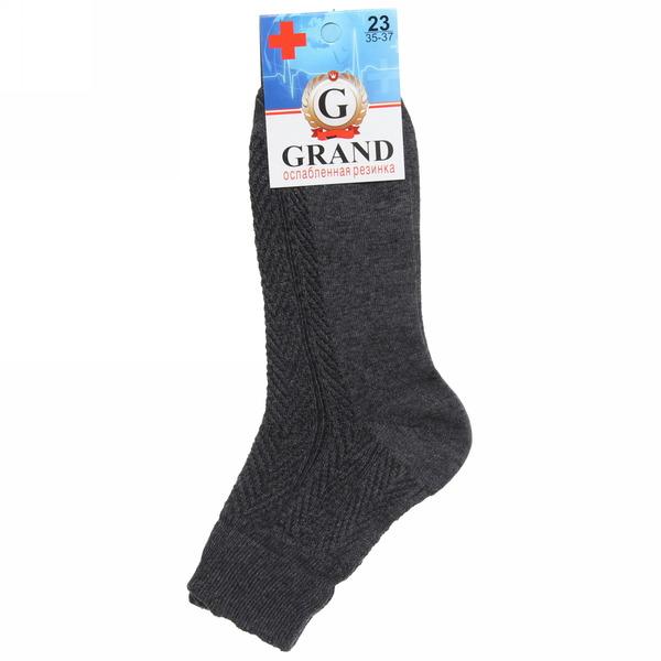 Носки мужские GRAND, ослабленная резинка, цвет асфальт р. 23 купить оптом и в розницу