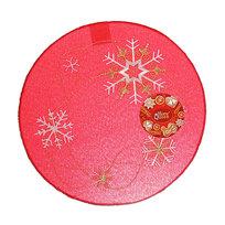 Салфетка на стол 30см с вышивкой праздничная красная купить оптом и в розницу