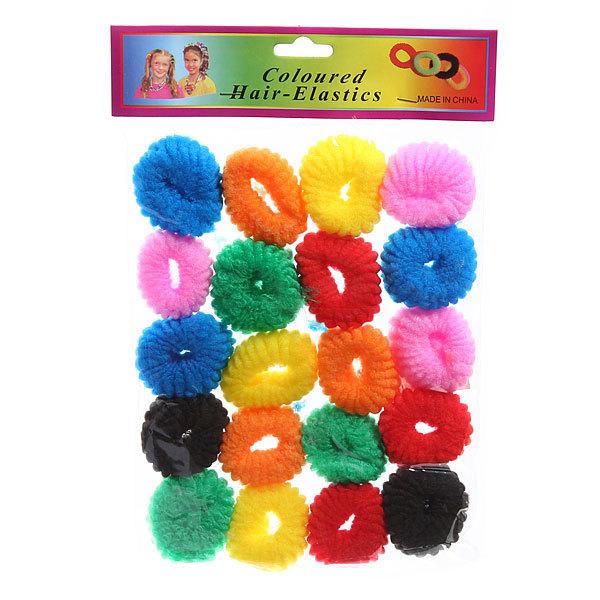 Резинки для волос 20шт ″Классика - зефирки″, цвет микс купить оптом и в розницу