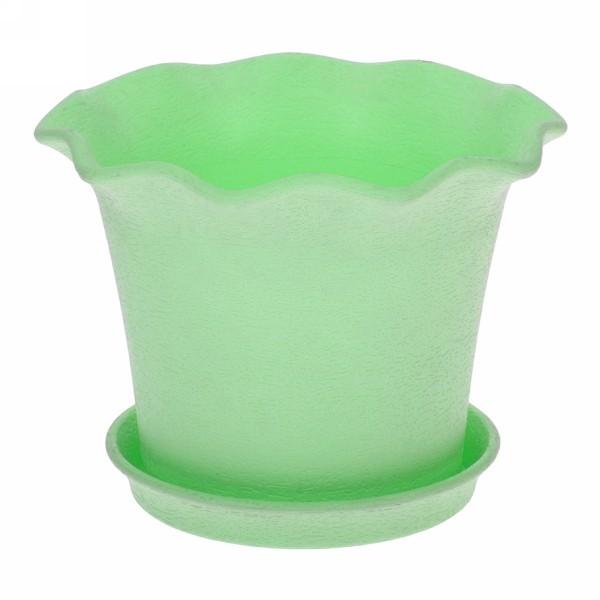 Горшок для цветов 0,5л с поддоном ″Le Fleurе″ d11 401-1 зеленый (Р) купить оптом и в розницу