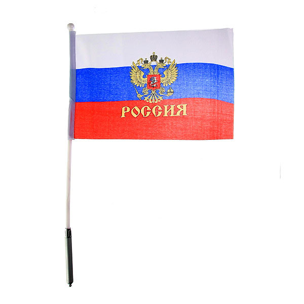 Флаг триколор/герб 20х28 см (светящийся) купить оптом и в розницу