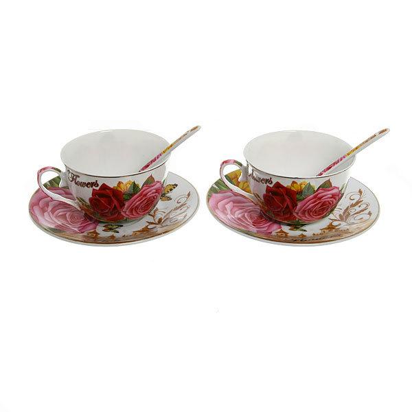 Чайный набор 4 предмета ″Бабочки″ купить оптом и в розницу