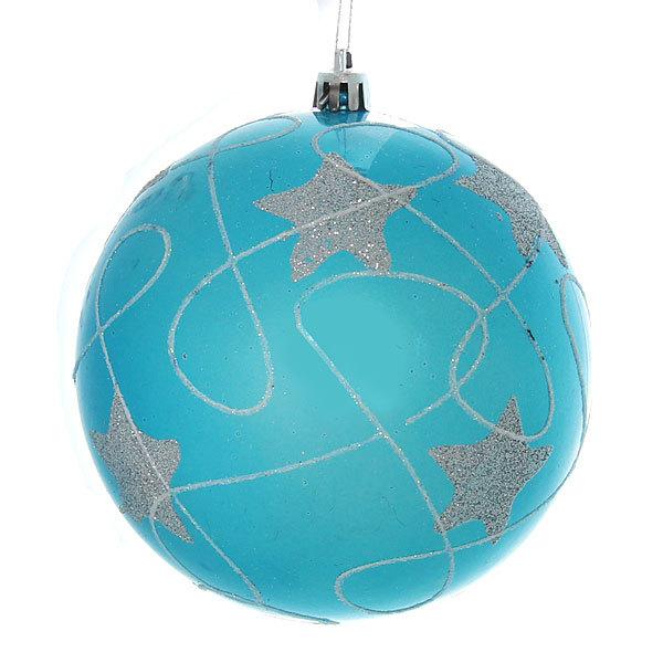 Новогодние шары ″Сапфировые звезды″ 12см (набор 2шт.) купить оптом и в розницу