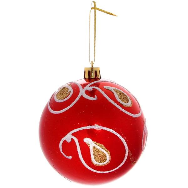 Новогодние шары ″Русские узоры″ 8см (набор 3шт.) купить оптом и в розницу