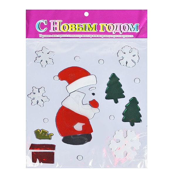Наклейка на стекло 21*25 ″Веселый дедушка мороз ″ 8 пред В 2539 купить оптом и в розницу