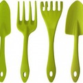 Набор садовых инструментов (лопатка, совок для пересадки, грабельки, вилка для рыхления)*22 купить оптом и в розницу