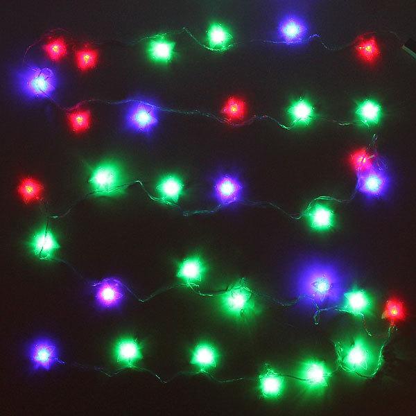 Гирлянда светодиодная 5,5м, 32 ламп LED, Бабочка акрил, RG/RB(красный,зеленый/красный,синий), ав.реж., пр. пров. купить оптом и в розницу