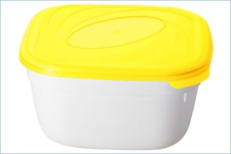 """Емкость для СВЧ """"Galaxy"""" квадратная 1 л лимон *60 купить оптом и в розницу"""