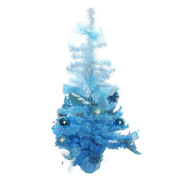Елка искусственная 60см с украшениями голубой C-12711 купить оптом и в розницу