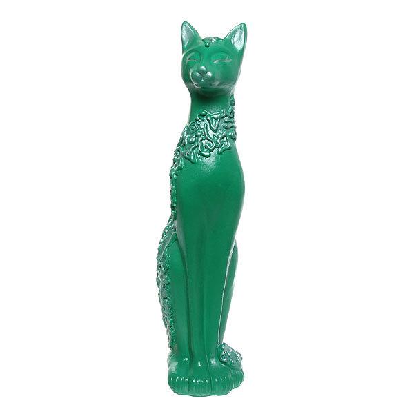 Статуэтка из гипса ″Кошка Сфинкс (изумруд), 48см. купить оптом и в розницу