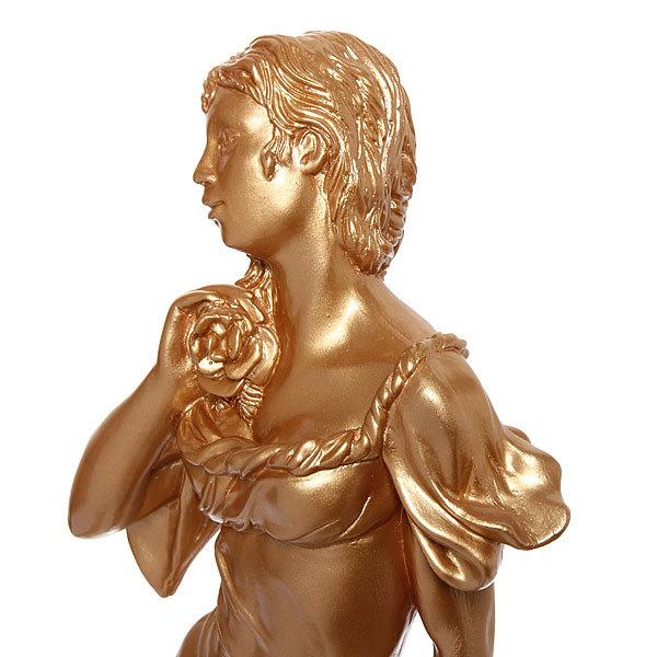 Статуэтка из гипса ″Девушка с корзиной″ (золото), 57см. купить оптом и в розницу