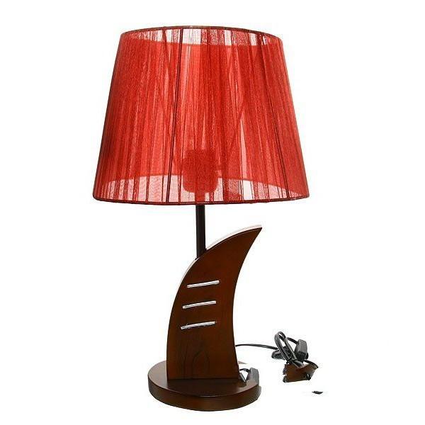 Светильник с абажуром настольный дерево 2286 h-41см (220В, Е27, выкл/вкл, 40 Вт) купить оптом и в розницу