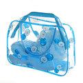 Банный-дорожный набор в косметичке 5 предметов (мочалка, зеркало, мыльница, расческа, футляр для зуб/щетки) купить оптом и в розницу