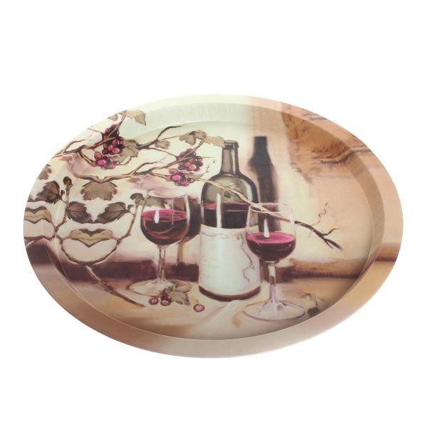 Поднос жестяной ″Вино″ 32см купить оптом и в розницу