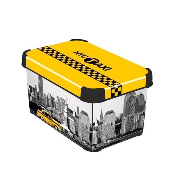 Коробка декоративная STOCKHOLM M TAXI - NY /*10 шт (29,5х19,5х13,5)см Curver купить оптом и в розницу