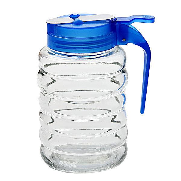 Сахарница стеклянная с дозатором синяя купить оптом и в розницу