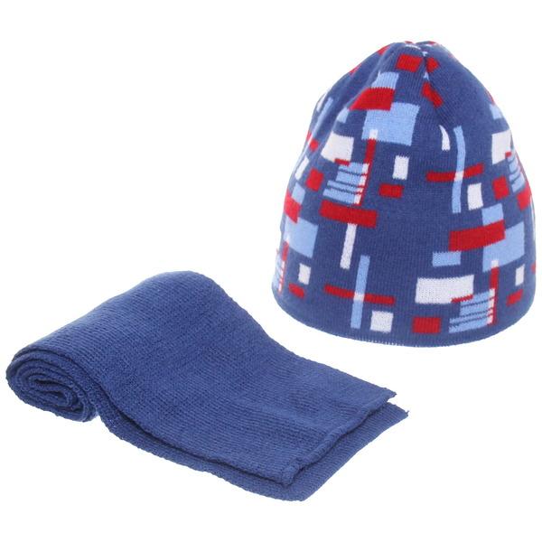 66 E Комплект (шапка+шарф) р.44-46 для мальчика купить оптом и в розницу