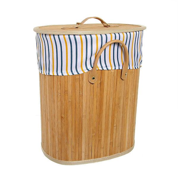 Корзина для белья бамбук 2014-024A 36х44х26 купить оптом и в розницу
