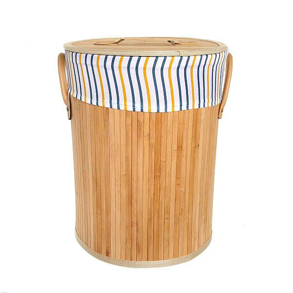 Корзина для белья бамбук 2014-025A 33х43х33 купить оптом и в розницу