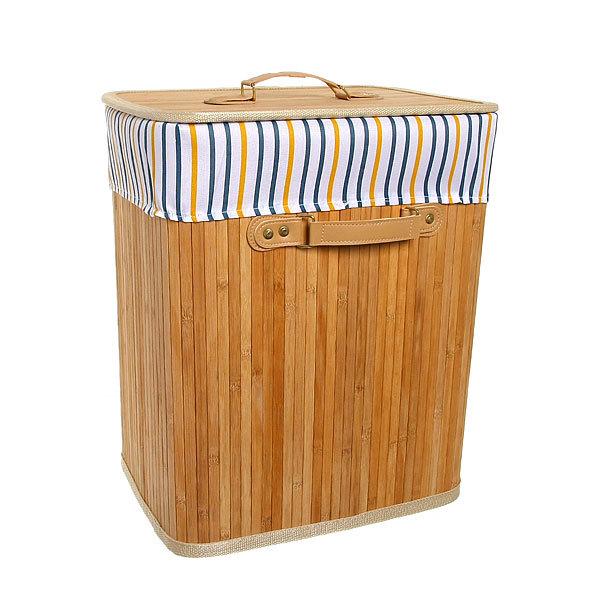 Корзина для белья бамбук 2014-022A 35х45х26 купить оптом и в розницу