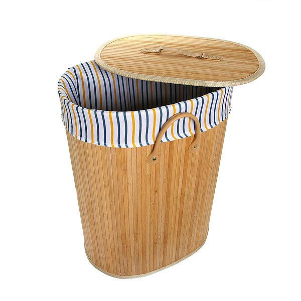 Корзина для белья бамбук 2014-023A 44х60х30 купить оптом и в розницу