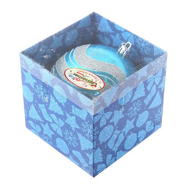 Новогодний шар ″Снежные волны″ 14см купить оптом и в розницу