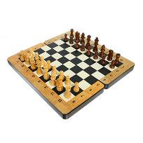 Игра настольная Шахматы-Нарды (дерево) 30х30см 25631 купить оптом и в розницу