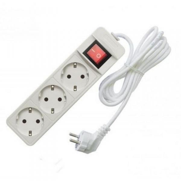 Удлинитель электрический 2 м/3 роз. с/з+выкл. (ПВС 3*0,75) (1/35) купить оптом и в розницу