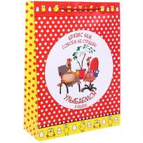 Пакет 32х43 см глянцевый ″Улыбаемся и пашем!″, Отважные курицы, вертикальный купить оптом и в розницу