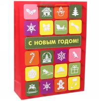 Пакет 32х43 см матовый ″С Новым годом!″, Интернет, вертикальный купить оптом и в розницу