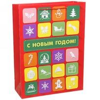 Пакет подарочный 32х43 см вертикальный ″С Новым годом!″, Интернет купить оптом и в розницу