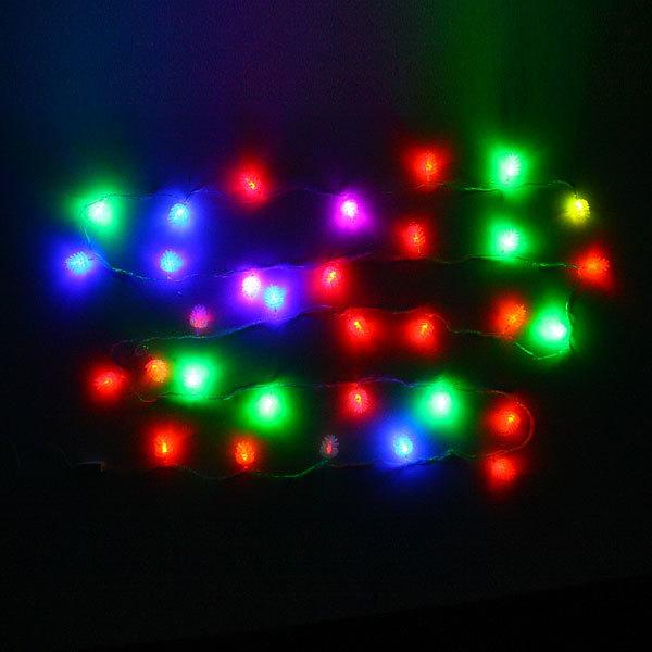 Гирлянда светодиодная 5,5м, 32 ламп LED, Шишка матовая, RG/RB(красный,зеленый/красный,синий), ав.реж., пр. пров. купить оптом и в розницу
