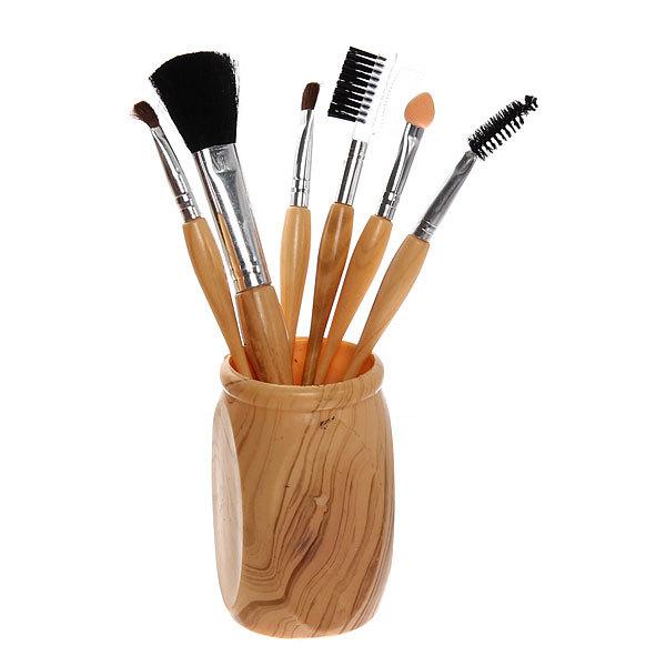Кисти для макияжа в наборе с подставкой 6шт 000-6 купить оптом и в розницу