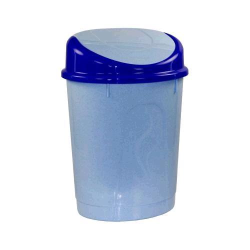 Контейнер для мусора 12л. (овальный)(голубой)(уп.6) (Октябрьский) купить оптом и в розницу