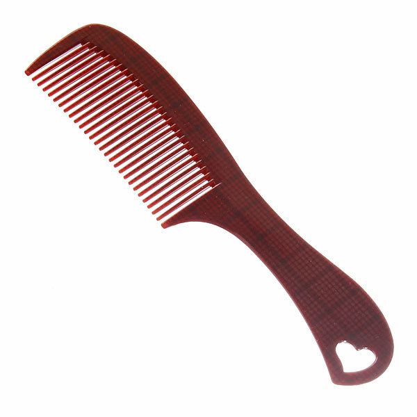 Расческа с ручкой ″Эстетика - клетка″, цвет коричневый, 19,5см купить оптом и в розницу