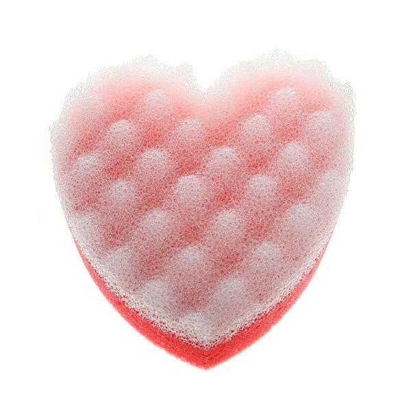 Губка для тела банная поролоновая ″Русалочка - Афродита″ комбинированная, форма сердце 13*12см купить оптом и в розницу