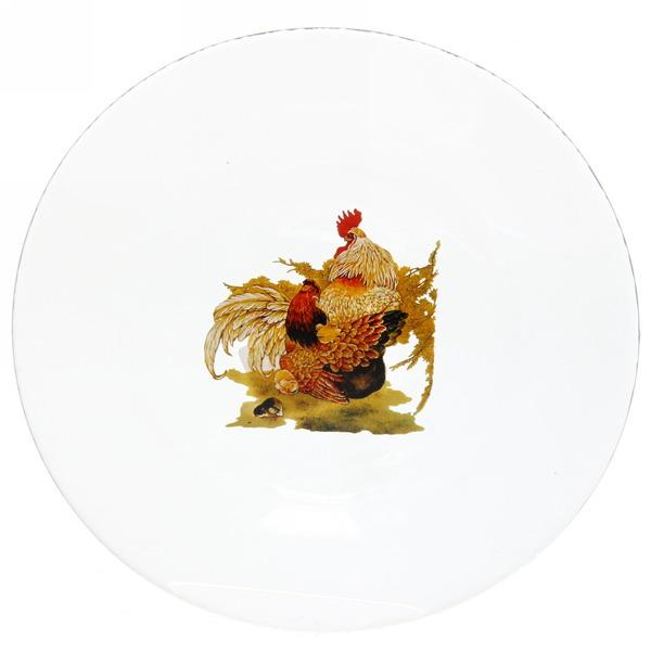 Тарелка 20см Инвитейшн ″Год петуха″ закаленное стекло купить оптом и в розницу
