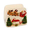 Салфетница керамическая ″Дед Мороз с оленями″ купить оптом и в розницу