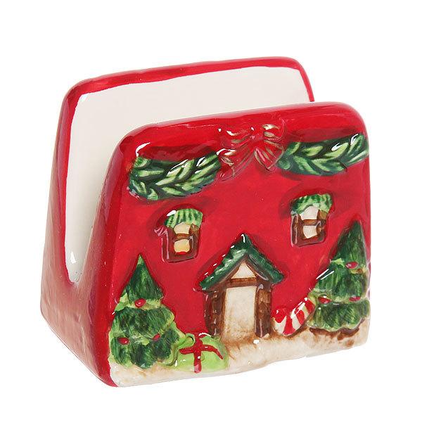 Салфетница керамическая ″Новогодний домик″ купить оптом и в розницу
