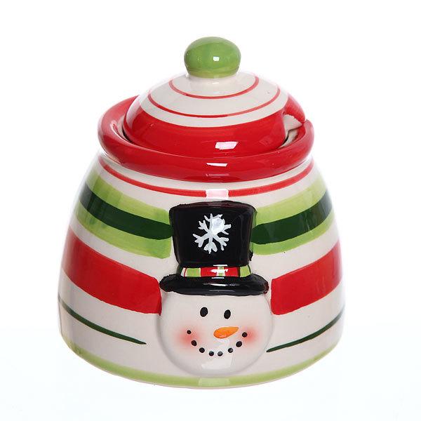 Набор банок керамических для специй 3шт ″Новогодний″ купить оптом и в розницу