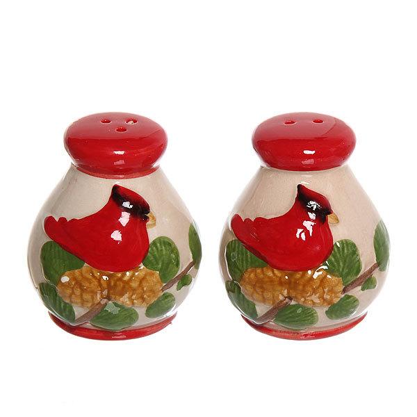 Набор для специй керамический ″Птица на дереве″ 2 шт купить оптом и в розницу