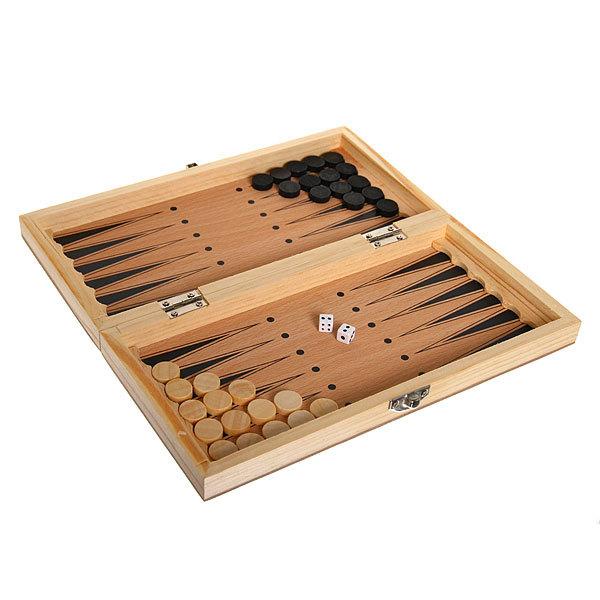 Игра настольная 3 в 1 (нарды, шашки, шахматы) 24*12 см купить оптом и в розницу