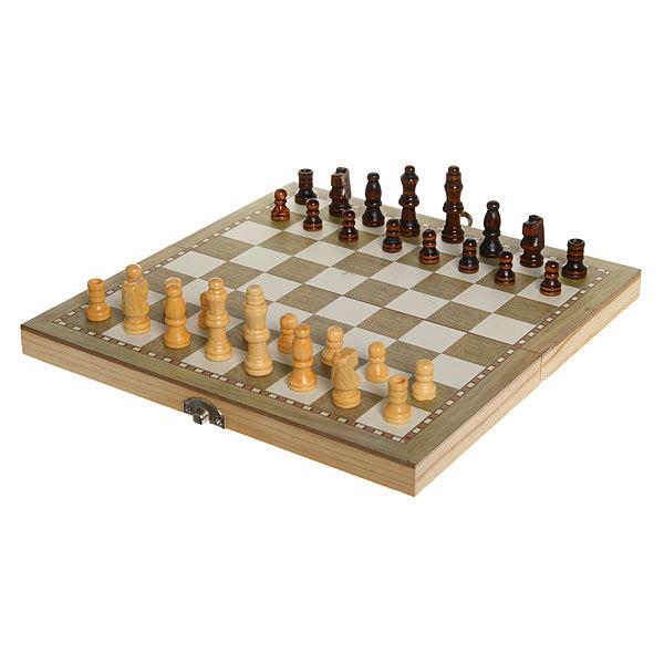 Игра настольная 3 в 1 Нарды +Шахматы 24*12см W2018 купить оптом и в розницу