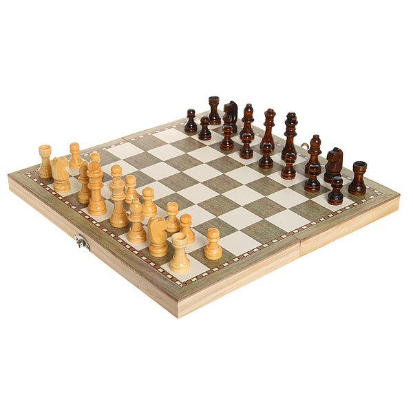 Игра настольная 3 в 1 Нарды +Шахматы 30*15см W3018 купить оптом и в розницу