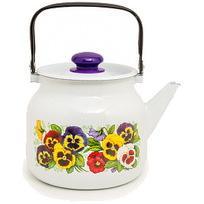Чайник эмалированный 3,5л ″Фиалки″ купить оптом и в розницу