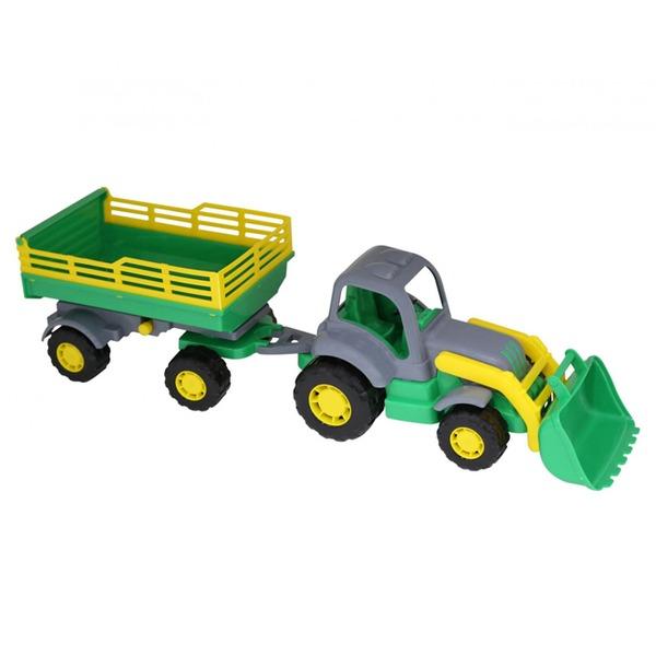 Трактор Крепыш с прицепом №2 и ковшом 44808 П-Е /10/ купить оптом и в розницу