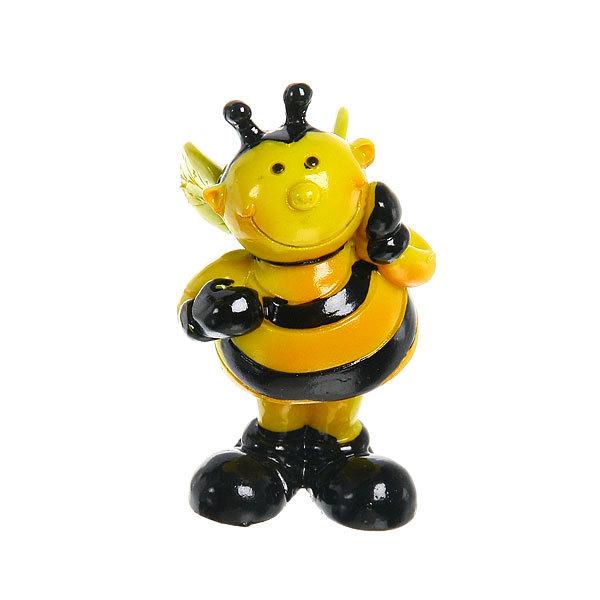 Фигурка из полистоуна ″Веселая пчелка″ на пружинке 8см ХQ91965 купить оптом и в розницу
