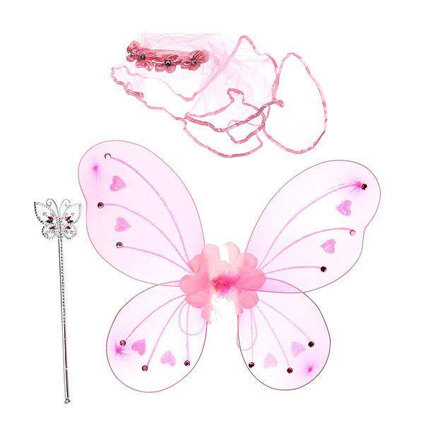 Карнавальный аксессуар из трех предметов ″Цветочная фея″ (крылья, ободок, палочка) купить оптом и в розницу